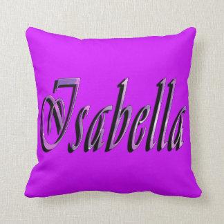 Almofada Isabella, nome, logotipo, coxim roxo do lance das
