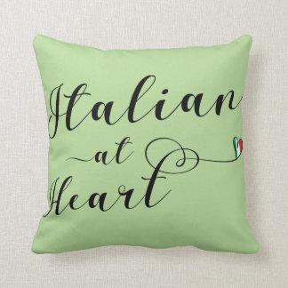 Almofada Italiano no coxim do lance do coração, Italia