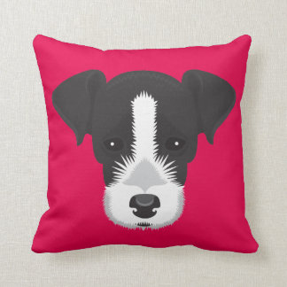 Almofada Jack cor-de-rosa Russell Terrier