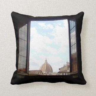 Almofada Janela ao travesseiro de Florença