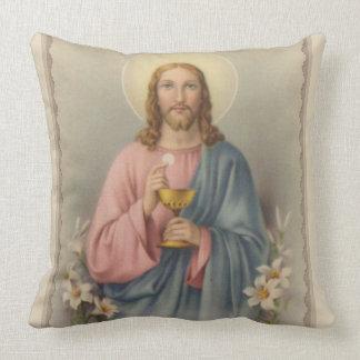 Almofada Jesus que guardara o Eucaristia & o cálice