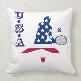 Almofada Jogador do americano do tênis dos EUA