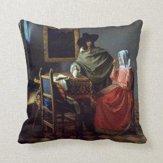 Almofada Johannes Vermeer o vidro de vinho