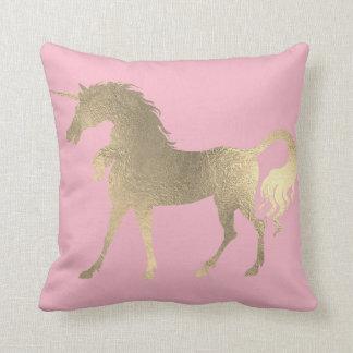 Almofada Justo Ouro do cavalo do unicórnio da princesa