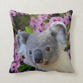 Almofada Koala e orquídeas