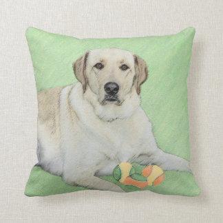 Almofada Labrador retriever amarelo & pintura das bolas de