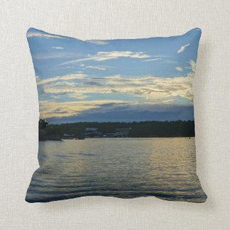 Almofada Lago do por do sol do azul de Ozarks