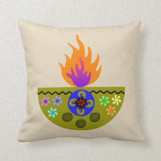 Almofada Lâmpada colorida Diya de Diwali