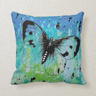 Almofada Lance colorido Pilllow da borboleta de Arsty