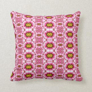 Almofada Lance floral cor-de-rosa e amarelo adorável, coxim