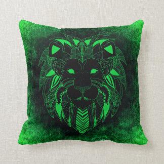 Almofada Leão verde, travesseiro decorativo do leão