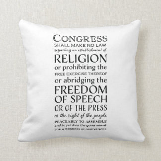 Almofada Liberdades da Primeira Emenda - defenda seus