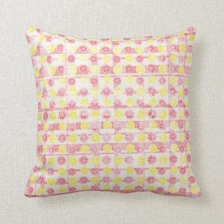 Almofada Limonada cor-de-rosa & amarela