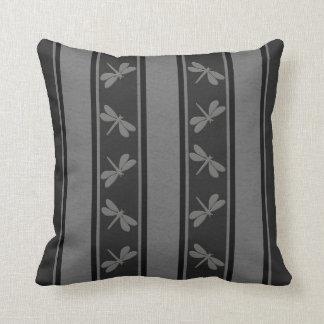 Almofada Linhas deixadas cair travesseiros cinzentos pretos