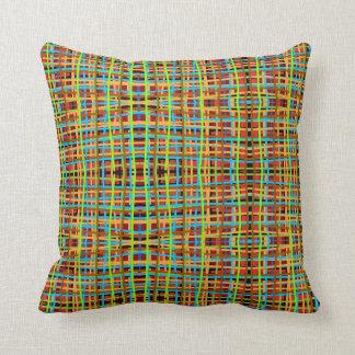 Almofada linhas fósforo do travesseiro do colorfull com