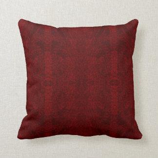 Almofada Linhas vermelhos escuro travesseiro decorativo