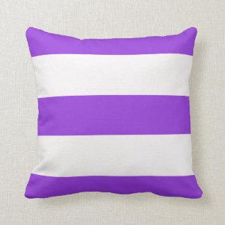 Almofada Listra larga violeta roxa travesseiro listrado das