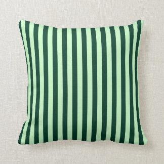 Almofada Listras finas - luz - verdes e verdes escuro
