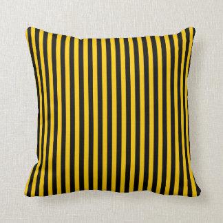 Almofada Listras pretas/amarelas travesseiro colorido