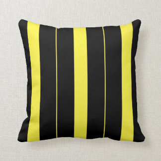 Almofada Listras verticais pretas e amarelas