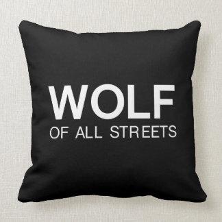 Almofada Lobo agradável de todo o impressão das ruas
