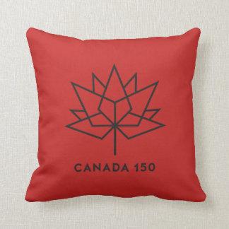 Almofada Logotipo do oficial de Canadá 150 - vermelho e