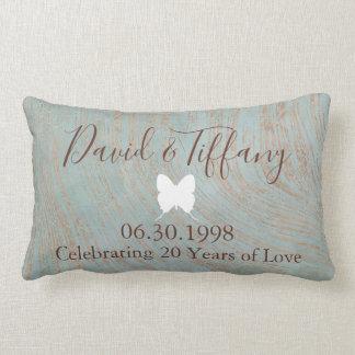Almofada Lombar 20o Impressão azul e de cobre do aniversário de