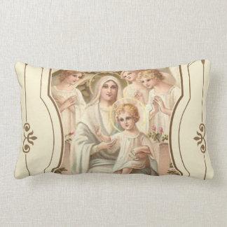 Almofada Lombar 2 TOMOU PARTIDO Madonna das flores dos anjos de