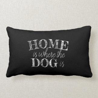 Almofada Lombar a casa bonito do travesseiro das citações do cão é