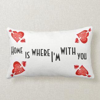 Almofada Lombar a casa é o lugar onde eu estou com você