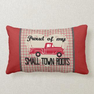 Almofada Lombar A cidade pequena enraíza o travesseiro lombar