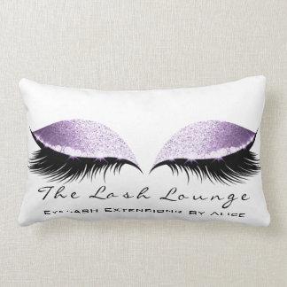 Almofada Lombar A composição branca do brilho Amethyst violeta