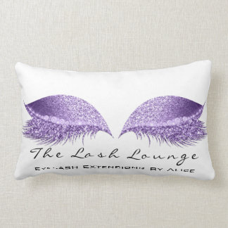 Almofada Lombar A composição branca do brilho roxo violeta