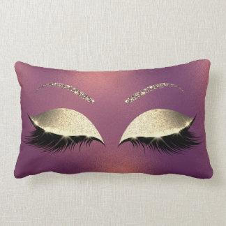 Almofada Lombar A composição Glam do brilho Glam do ouro chicoteia