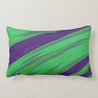 Almofada Lombar Abstrato azul verde moderno da abanada da cor