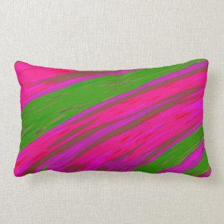 Almofada Lombar Abstrato brilhante da abanada da cor cor-de-rosa e