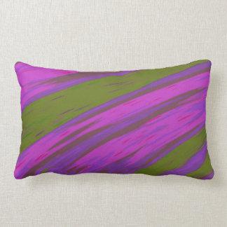 Almofada Lombar Abstrato moderno da abanada da cor roxa e verde