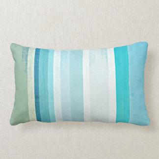 """Almofada Lombar """"Acena"""" a arte abstracta azul e bege"""