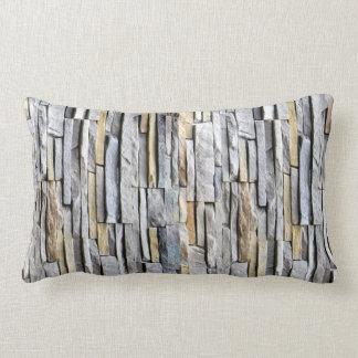 Almofada Lombar Acento cinzento da parede de tijolo da ardósia