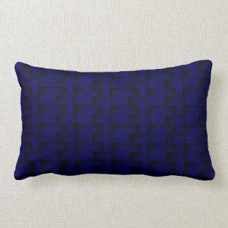 Almofada Lombar Acento gráfico azul escuro do motivo