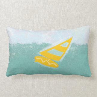 Almofada Lombar Aguarela brilhante bonito ida surfar o travesseiro