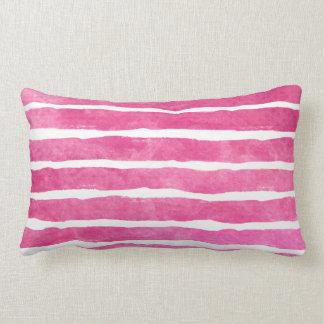 Almofada Lombar Aguarela listrada cor-de-rosa escura - todos os