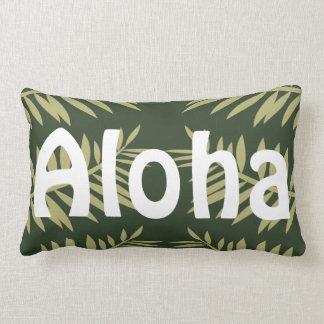 Almofada Lombar Aloha samambaias tropicais do verde da ilha
