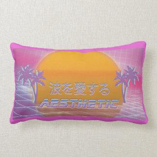 Almofada Lombar Ame a onda - tubo macio estético de Vaporwave