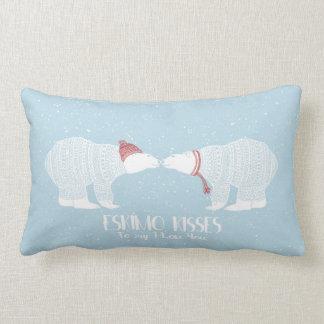 Almofada Lombar Amor escandinavo do inverno do urso polar do beijo