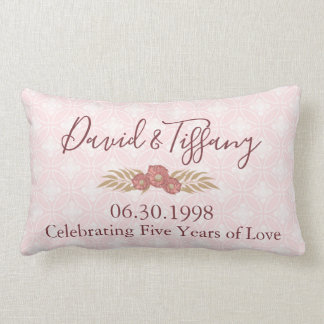 Almofada Lombar Aniversário de casamento 5 anos de amor
