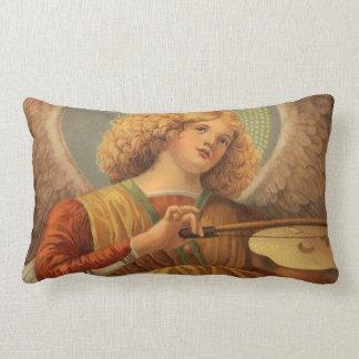 Almofada Lombar Anjo do Natal que joga o violino Melozzo a