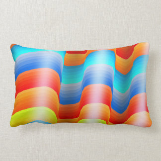 Almofada Lombar Arco-íris colorido Sarape