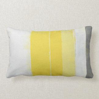 """Almofada Lombar Arte abstracta cinzenta e amarela """"cítrica"""""""