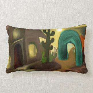 Almofada Lombar Arte abstracta do sudoeste da missão espanhola